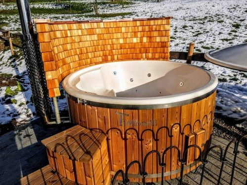 Fiberglass Lined Hot Tub With Integrated Burner Thermo Wood [Wellness Royal] (4)
