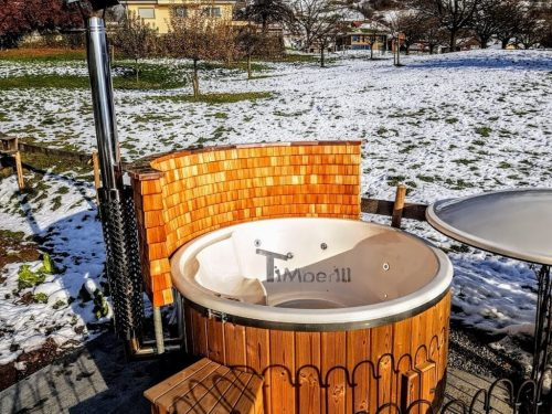 Fiberglass Lined Hot Tub With Integrated Burner Thermo Wood [Wellness Royal] (5)
