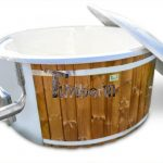 Balia z wkładem z włókna szklanego i zintegrowanym piecem – thermowood Wellness Royal dla maks 8 osób - TimberIN