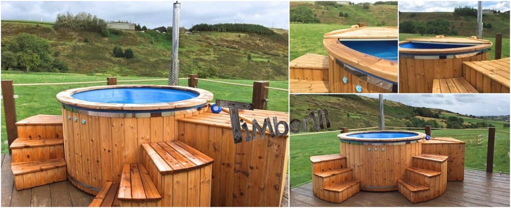 Fiberglass-lined-hot-tub-with-integrated-burner-thermo-wood-Wellness-Royal-James-Booth-Sheffield-UK Od klientów