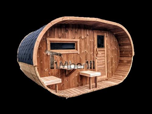 Owalna Ogrodowa Sauna Zewnętrzna (1)