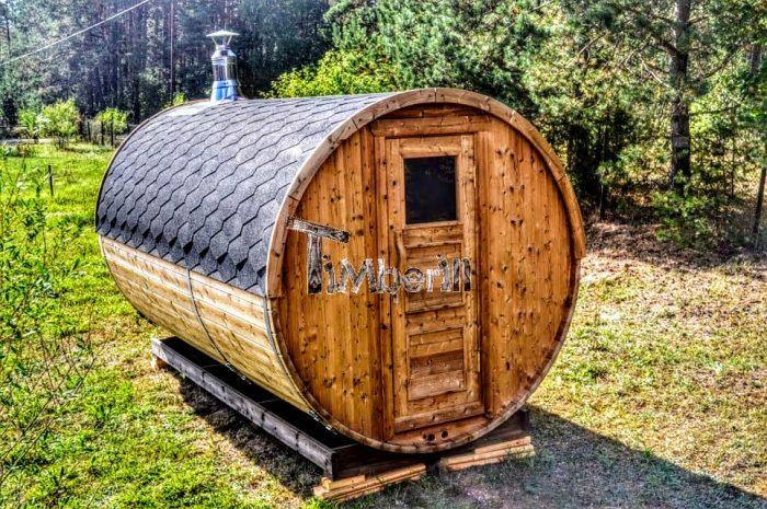 Sauna Ogrodowa Z Piecem Na Drewno