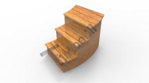 C_type_stairs_(2) Balia  z wkładem z włókna szklanego i zintegrowanym piecem - thermowood o żywych barwach