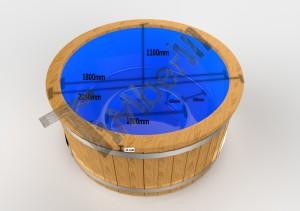 Fiberglass_deluxe_3D_1 Zewnętrzna, elektryczna gorąca beczka spa