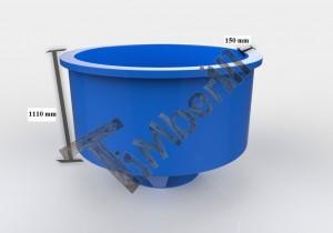 Glassfiber_modell_3d_(terrasse)_(1) Zewnętrzne, zatopione w ziemi/tarasie/patio jacuzzi – Model stożkowy