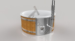 Wellness_Fiberglass_3D_render_(1) Zewnętrzne spa z wkładem z włókna szklanego i zintegrowanym piecem - Wllness Deluxe