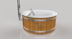 Wellness_Fiberglass_3D_render_(14) Zewnętrzne spa z wkładem z włókna szklanego i zintegrowanym piecem - Wllness Deluxe