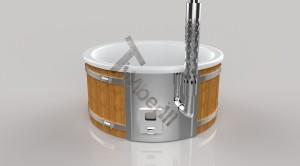 Wellness_Fiberglass_3D_render_(20) Zewnętrzne spa z wkładem z włókna szklanego i zintegrowanym piecem - Wllness Deluxe