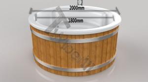 Wellness_Royal_3D_(1) Zewnętrzne spa z wkładem z włókna szklanego i zintegrowanym piecem - Wllness Deluxe